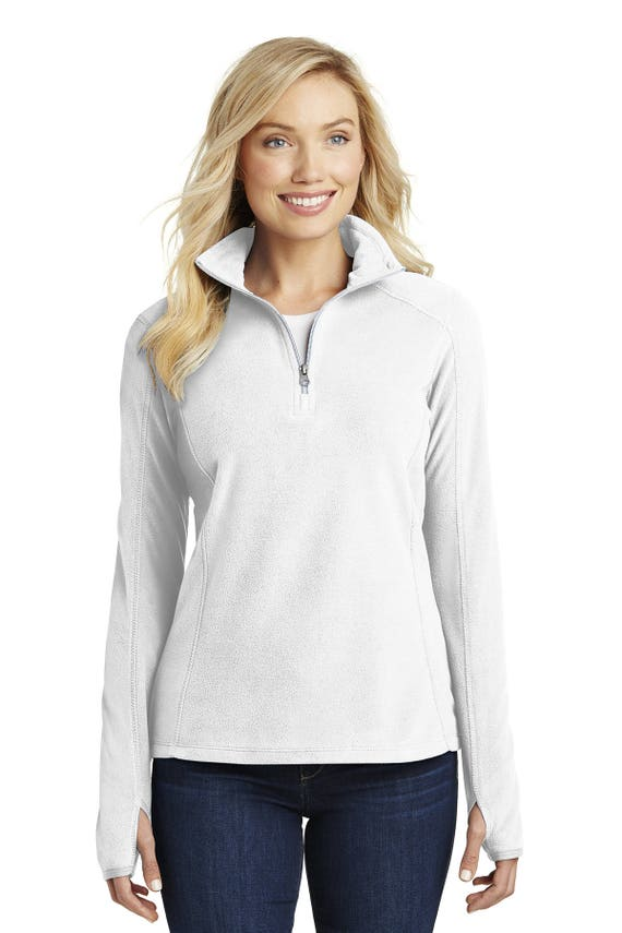 1/4 Zip Sweatshirt in White