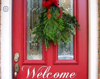 20% OFF Welcome  -Vinyl Lettering door decal wall words graphics Home decor itswritteninvinyl