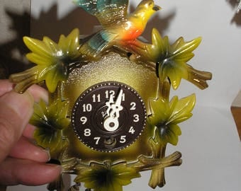Vintage;Germany Mini Cuckoo Clock W/Key