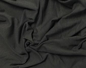 Bamboo Cotton Lycra Jersey Knit Fabric Eco-Friendly 4ways spandex - Charcoal Gray