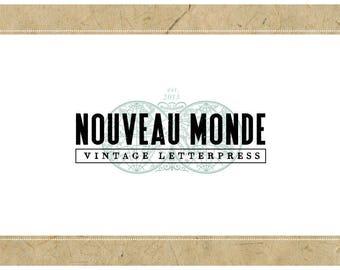 Custom Logo Design - PreDesigned Logo PreMade Logo Vector Logo - OOAK Logo - NOUVEAU MONDE Logo - Atlas Logo - Geography Logo - Map Logo