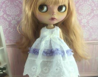 Blythe Ribbon Lace Dress - Purple