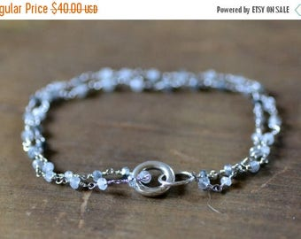 ON SALE tourmalinated quartz chain bracelet