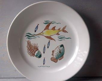 Arabia Aquarium Plate
