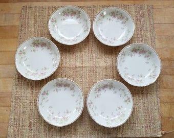 Syracuse China, Stansbury Pattern, Fruit/Dessert Bowls
