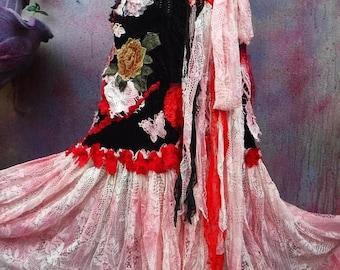 20%OFF gothic, bohemian skirt, bohemian, shabby skirt, lace skirt, lace, gothic skirt, gothic skirt, stevie nicks western, steampunk, velvet