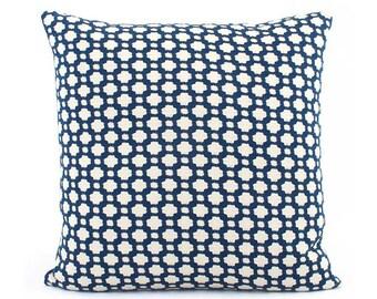 Schumacher Betwixt in Indigo Blue Pillow Cover, Geometric, Euro Sham Square or Lumbar Pillow, Throw Pillow, Accent Pillow, Toss Pillow