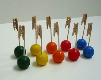 Set of 10 cards form bowls color balls