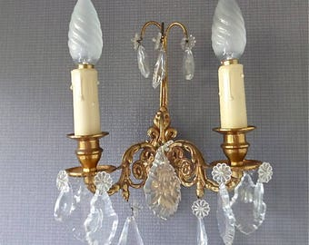 French Antique Louis XVI style Bronze wall sconce, wall light