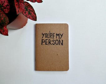 You're my person gift, Grey's Anatomy notebook, Small gifts for best friend, Meredith and Cristina BFF gifts, Greys Anatomy, Girlfriend gift