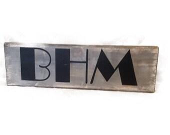 BHM, Birmingham Block Sign