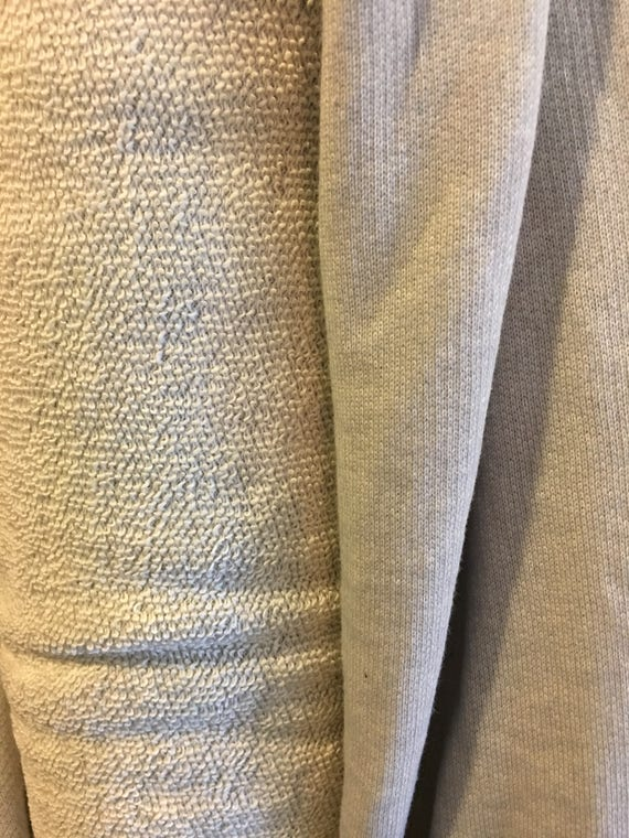 Gray French Terry Knit Fabric - Per Yard