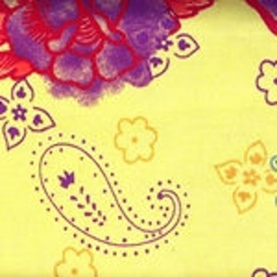 Yellow Amor Cotton Lycra Fabric (yard)