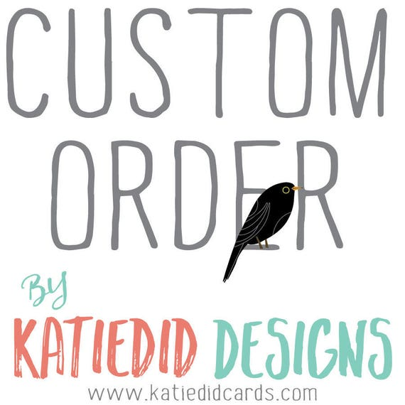 Custo order for Jill M- thank you card design and printing