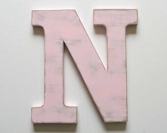 Letter N - 24 inch Letter - Large Wooden Letter