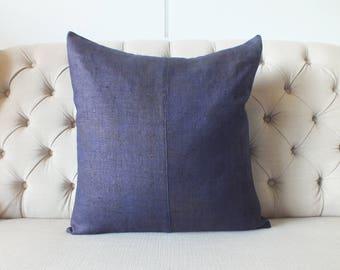 "22""x22""Vintage Hmong cushion cover, Handwoven Hemp Fabric-vintage Homespun hemp,Throw Pillow,Decorative cushions"
