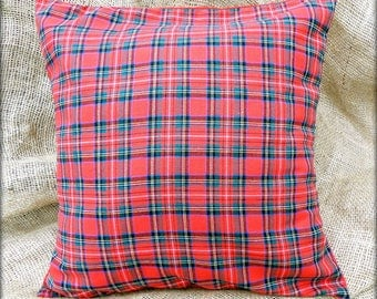 Royal Stewart Tartan Fabric Cushion cover