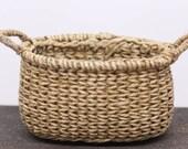 Miniature basket - arrow weave gathering basket