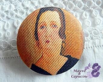 Modigliani fabric button, 40 mm / 1.57 in diameter