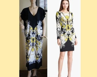 Jersey material dress plus size