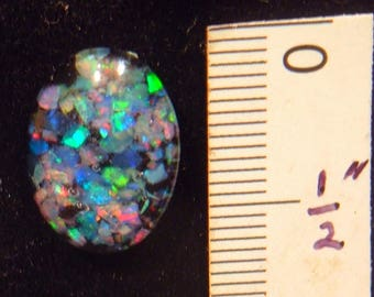 OPAL CABOCHON big gem 14 x 10 mm bright colors