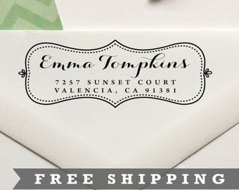 Return Address Stamp, Custom Stamp, Personalized Stamp, Self Inking Stamp, Rubber Stamp, Save the Date Stamp - No. 07