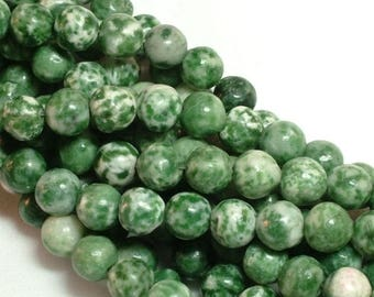 ON SALE tree agate (natural) Bead, 8mm round. You pick from half strand, or full 16 inch strand |GS-0004-08