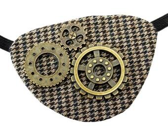 Eye Patch Steampunk Sherlock Victorian Gothic Pirate Fantasy Fashion Gears