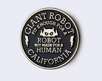 Giant Robot Circle Emblem Enamel Pin