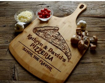 ON SALE Personalized Pizza Paddle, Personalized Wedding Gift, Housewarming Gift, Anniversary Gift, Personalized Pizza Paddle Wood, Custom En