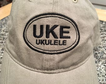 UKE Oval Embroidered Hat Cap