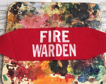 This Vintage Felt Arm Badge Lets The World Know Your The Fire Warden