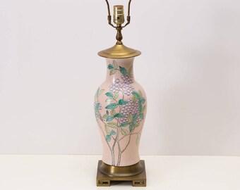 Chinoiserie Ginger Jar Lamp, Pink Lamp, Asian Lamp