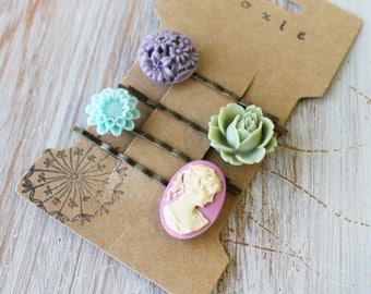 Floral Hair Pins for Wedding - Bridesmaid Hair Accessories - Bridal Hair Pins - Flower Hair Pins - Boho Hair Accessories - Boho Hair Pins