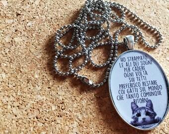 Resin Pendant Necklace,pendant quote,quotes,lyrics,music pendant,music,song lyrics
