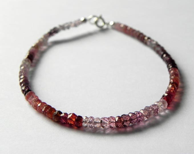 Multi coloured spinel gemstone bracelet.