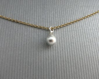 Mixed Metals Choker Simple Charm Choker Gold Chain Necklace