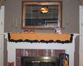 halloween mantel decorationblack bats - Halloween Mantle