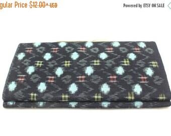 20% SALE Japanese Vintage Kasuri Ikat. Woven Indigo Cotton Bolt. Traditional Folk Fabric. Bingo (Ref: 1783)