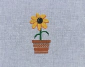 Hand Painted Black Eyed Susan Canvas by MyPinkSugarLife