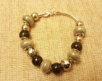 dark clouds - a euro bead bracelet for storm chasers and those who dance in the rain
