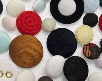 The Covered Button Assortment: A Variety Mix of 50 Vintage-to-Contemporary Buttons