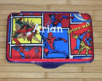 Personalized Kids School Pencil Box Case Spiderman Spider-Man