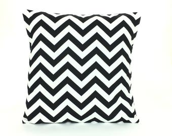 Black White Throw Pillows Cushion Covers All Sizes Black White Chevron Couch Sofa Pillows Bedding Home Decor Nursery Accent Cushion Shams
