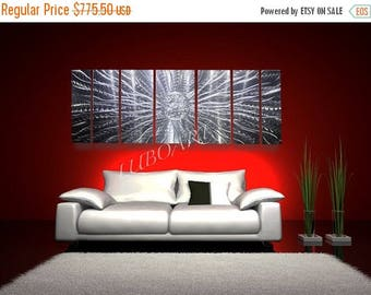 """SALE 70% OFF Abstract Metal Modern Wall Art 66"""" Long Sculpture home boardroom office living home new Decor 3D Video Led Rgb Halogen light re"""