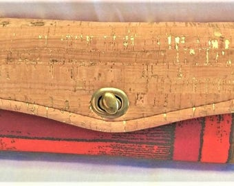 CORK NCW Wallets for Women, Purses, Women Compact Credit Card Holder, Zipper Clutch,  Graduation, Gifts For Her, Twist Lock Closure