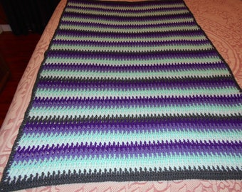 Purple, Green and Gray Stripes