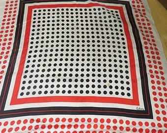 ECHO Polka Dot Vintage Silk Scarf  26 X 27    #146