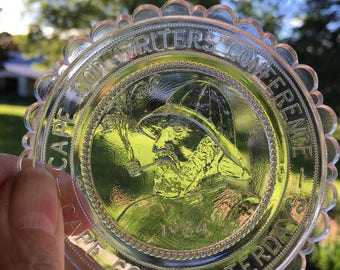 Pairpoint glass cup plate cape cod writers conference 1984