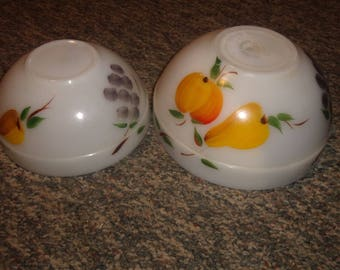 2 vintage fire king mixing nesting bowls gay fad fruit